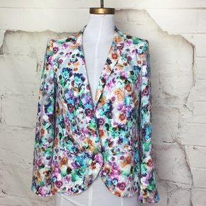 Hinge Floral Blazer Spring Jacket Sz M